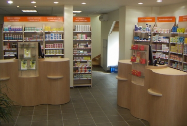 Agencement magasin club afiroc mobilier et am nagement for Agencement pharmacie meuble