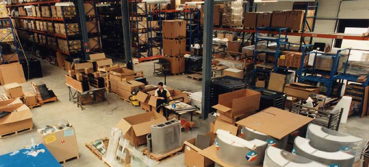 Logistique agencement stockage assemblage
